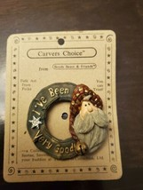 Boyds Bears Pin Carvers Choice NOS Vintage 1998 Santa I've Been Good On ... - $10.84