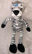 Vintage Fiesta 2000 White & Black Striped Tiger Stuffed Animal Plush Toy... - $268,56 MXN