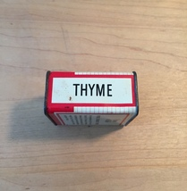 Vintage 70s Spice of Life Thyme tin packaging image 6