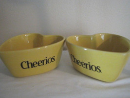 Cheerios Yellow Heart Bowls - Set of 2 - General Mills 2003 - $9.74