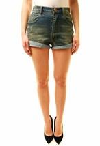 One Teaspoon Women's Labyrinth Harlets Shorts Blue Size 26 RRP $116 BCF611 - $60.88