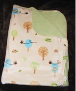 Target Circo Baby Blanket Owl Birds Trees Tan Green Sherpa Bees Owls  - $18.78