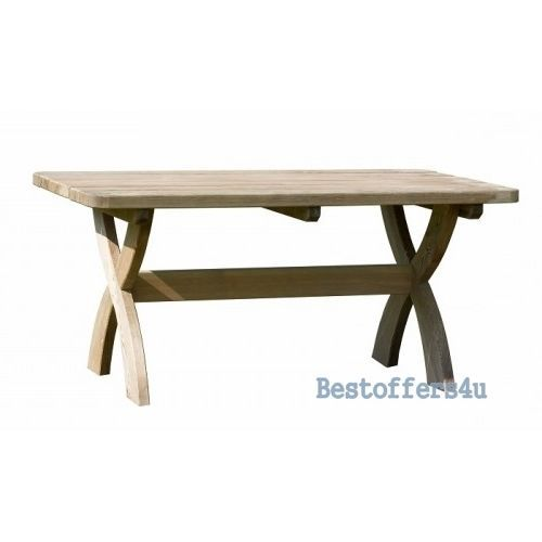 Patio Wooden Dining Table and Bench Set 6 Seaters Garden Solid Luxury Furniture image 3