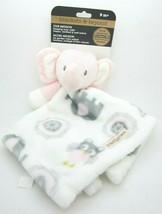 Blankets and Beyond Baby Security Blanket Pink Elephant White NuNu Blankie - $17.99