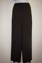 NEW ELIZABETH & JAMES Brown Gold Pinstripe Wool Blend Wide Leg Dress Pan... - $79.99