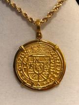 TREASURE PENDANT NECKLACE MEXICO ROYAL 1715 FLEET SHIPWRECK JEWELRY GOLD... - $599.00