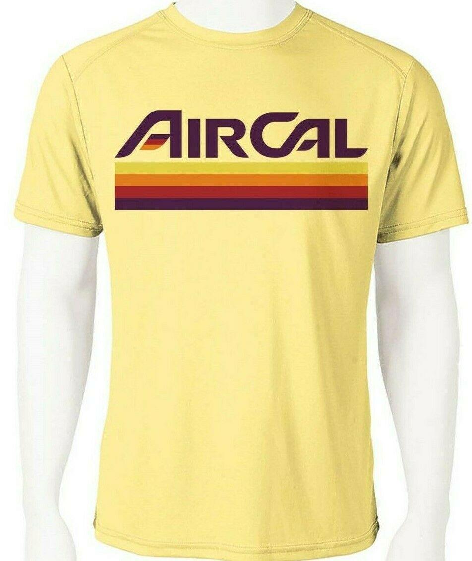 Air cal dri fit graphic tshirt moisture wicking spf retro california airline tee