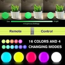 Chakev Floating Pool Lights 10 Pack 16 Colors Remote Control Pond LED Ba... - $48.86