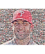 Bryce Harper Philadelphia Philles Photo Mosaic Print Art - $20.00 - $55.00