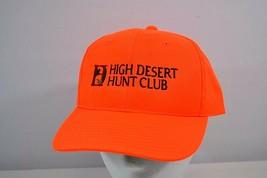 High Desert Hunt Club Hunter Orange Baseball Cap Snap Back - $19.59