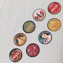 Coca-Cola Collect A Card Coke Cap Series One 1 Complete Set 8 Pogs Tradi... - $7.91