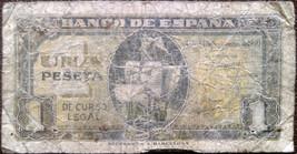Spain banknote - 1 una peseta - year 1940 - ship Santa Maria - post-Repu... - $13.80