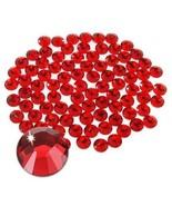 Jollin Hot Fix Flatback Rhinestones Glass Diamantes Gems20ss 576pcs,Red - $12.37