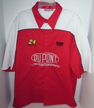 Vintage JEFF GORDON #24 Embroidered Snap Front Shirt NASCAR Dupont Hendr... - $46.71