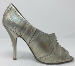 Jessica Simpson NICHOLA Metallic Booties heels Iridescent Patent leather 8.5 image 6