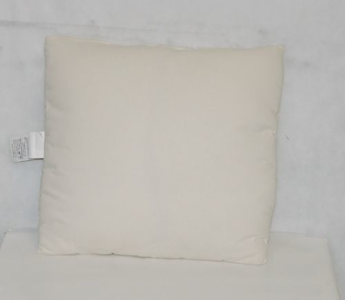 Plain Off White Pillow 18 Inches Zippered Fiber Batting Throw Pillow No  Sham