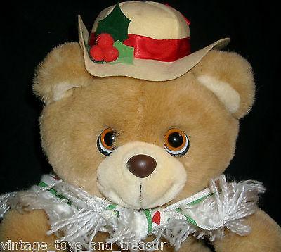 Vintage 1986 Applause #21023 Hollybeary Orsacchiotto Ragazza Peluche Cappello