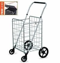 Wellmax Grocery Shopping Cart with Swivel Wheels, Foldable and Collapsib... - $100.05 CAD