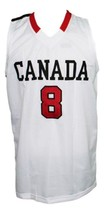 Andrew Wiggins #8 Team Canada Basketball Jersey Sewn White Any Size image 4