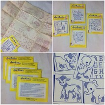 Vintage Uncut Aunt Martha's Hot Iron Transfers Baby Animals Crib Sheep W... - $11.39