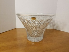 VINTAGE POLONIA HEAVY LEAD CRYSTAL CENTERPIECE BOWL MADE IN POLAND - $149.95