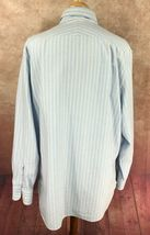 Charles Tyrwhitt Men's Button Down Long Sleeve Blue Stripe Oxford Shirt XXL  image 4