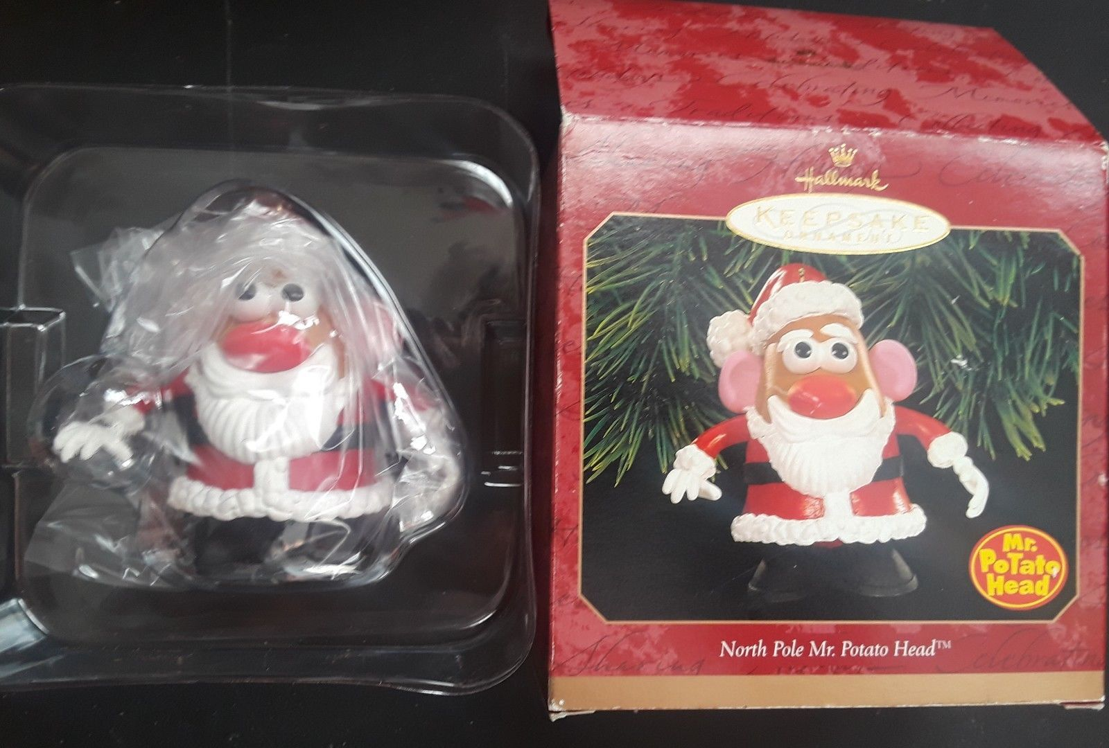 Hallmark Northpole Mr. Potato Head Santa Claus Ornament Christmas Holiday 1999