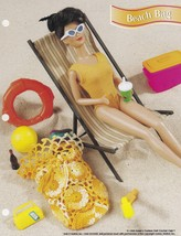 Beach Bag, Annie's Attic Fashion Doll Crochet Pattern Club Leaflet FC47-05 - $2.95