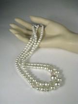Necklace Women Multi Strand 19 Inches Aurora Borealis Beads Vintage 1950 Japan - $39.59