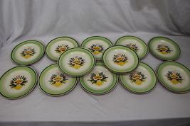 "Set of 12 Hand Painted Stangl Pottery FLORETTE Flower Urn 5073 10"" Dinne... - $149.99"