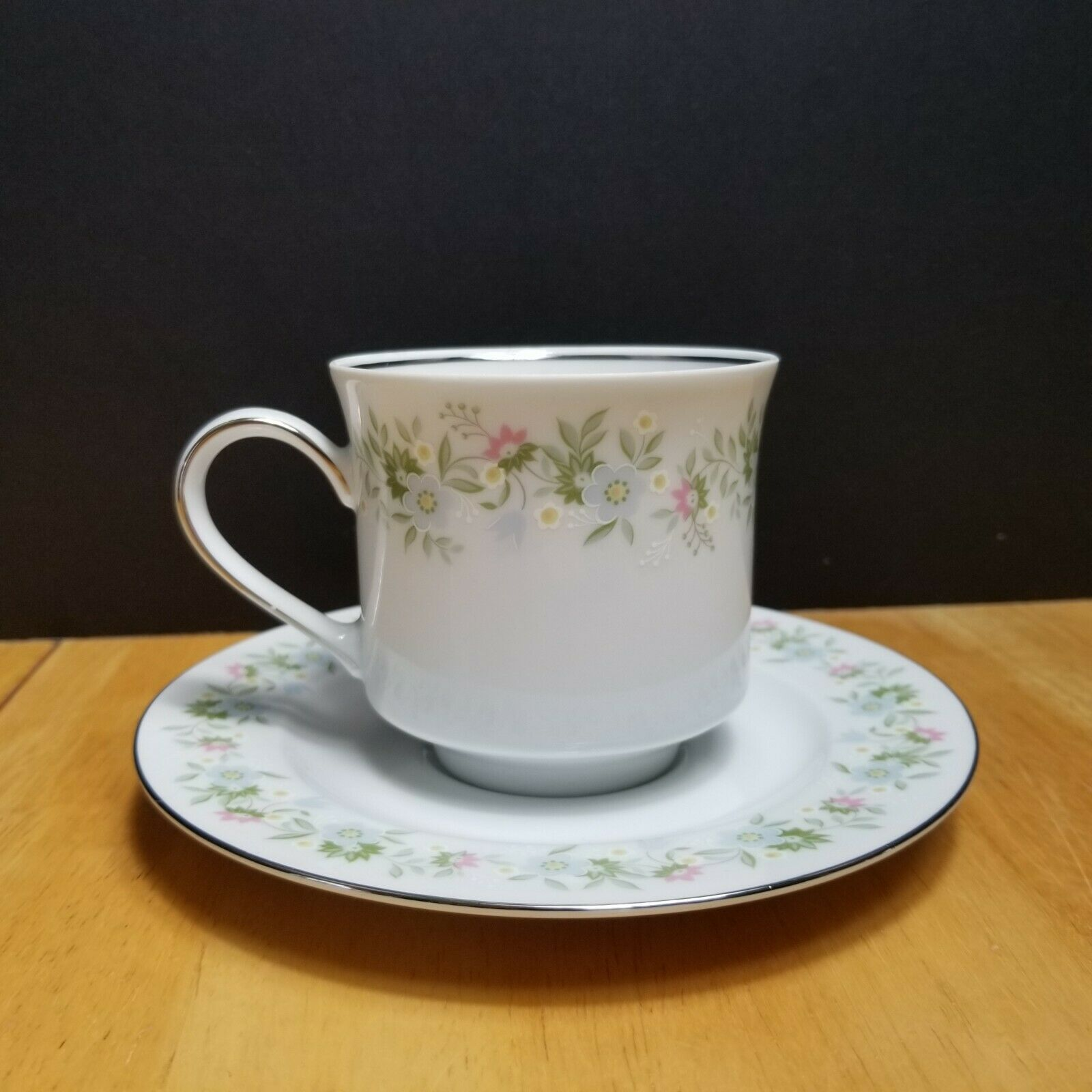 Primary image for Johann Haviland Forever Spring Cup & Saucer White Multi-Color Floral Rim