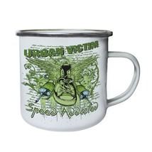 Urban Victim Speed Addicted Green Sneaker Wings Retro,Tin, Enamel 10oz M... - $13.13