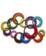 Contemporary Circle Wall Art, Circle Wall Hanging, CircleSculpture 33x22... - $158.39