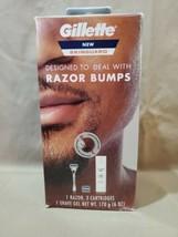 Gillette Skinguard Razor Bumps Kit 1 Razor, 3 Blades & 1 Shave Gel NEW - $12.95