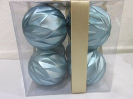 Coastal Collection Beach Nautical Plastic Aqua Christmas Ornaments Set of 8 - $24.99