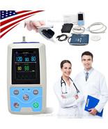 Patient Monitor Vital Signs Monitor SPO2 NIBP HR PR Ambulatory Blood Pre... - $197.01