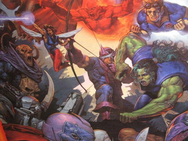 1995 Marvel Comics Avengers poster:Iron Man/Hulk/Captain America/Thor/Dr Strange