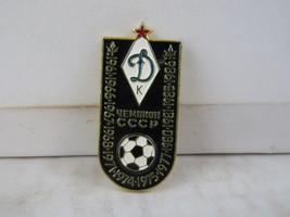 Vintage Soviet Soccer Pin - Dynamo Kiev Top League Champions - Stamped Pin - $19.00