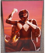 Power Rangers Black Ranger Glossy Art Print 11 x 17 In Hard Plastic Sleeve - $24.99