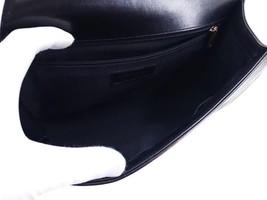 AUTHENTIC CHANEL BLACK LAMBSKIN NEW MEDIUM BOY FLAP BAG GHW image 6