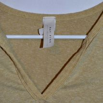 Maypink May Pink Women's Heathered Dijon Yellow V-Neck Short Sleeve Shirt Size M image 3