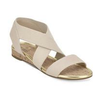Bandolino Wedge Cork Pull-On Sandals Kenly Light Natural. Size 6.5M - $48.99