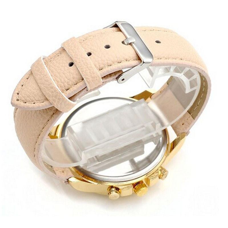 Geneva Fashion Watches Women Men Casual PU Leather Band Analog Quartz WristWatch