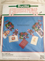 "Bucilla Bell & Candy Cane Garland 61132 Plastic Canvas Sealed 36""x6"" Vintage  - $22.74"