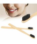 BAMBOO Black Toothbrush Nylon Fibre Soft Bristles Wooden Handle KIDS / A... - $0.90