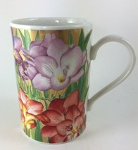 Dunoon Jane Brookshaw Red Purple Gold Floral Hellebores Mug Cup Made in ... - €16,12 EUR