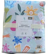 New Pottery Barn Kids Naomi Floral Organic Duvet Cover Twin Floral Aqua - $65.41