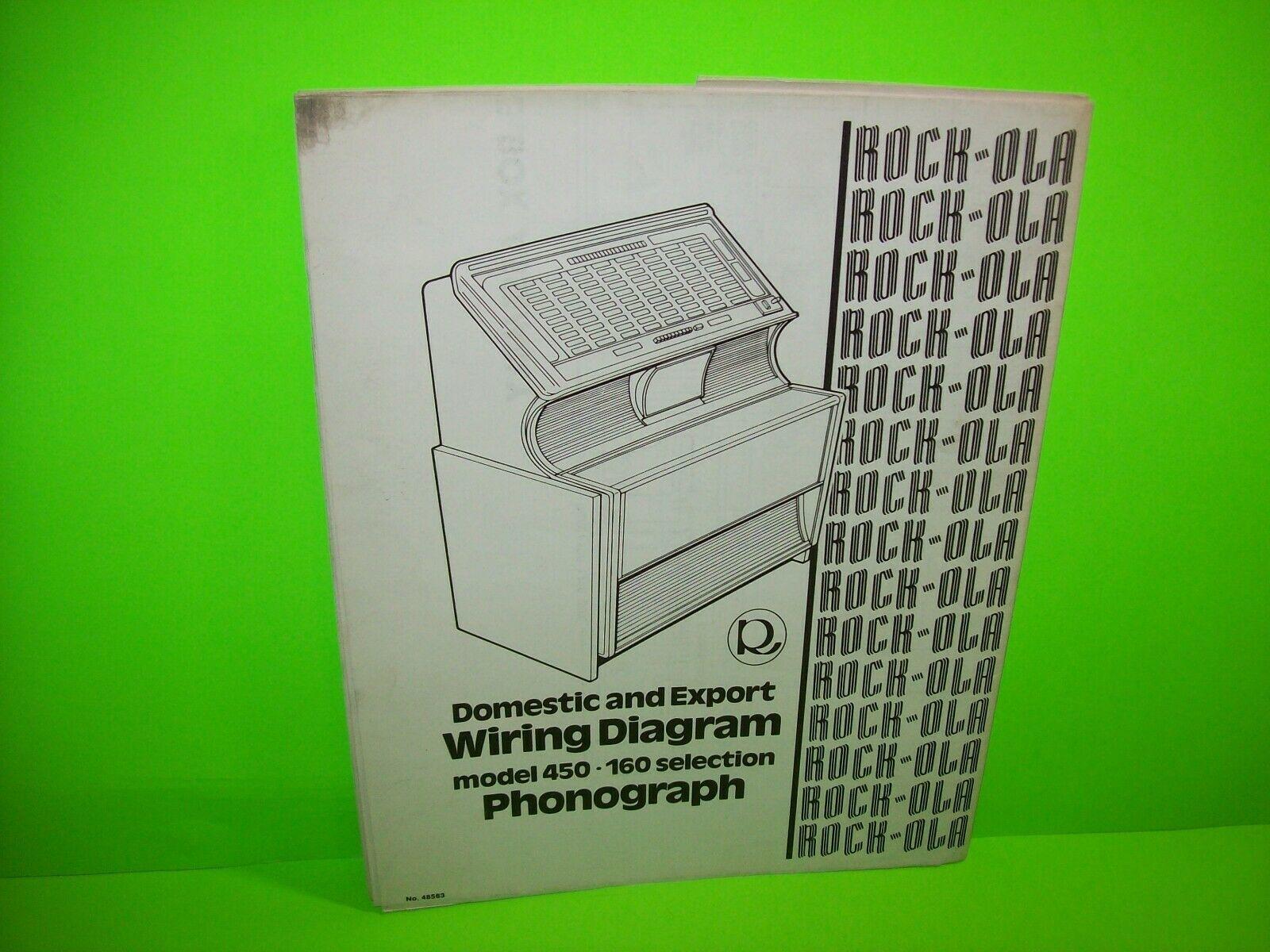 Rock Ola 450 Jukebox Phonograph Wiring Diagram Schematic Original 1970 Vintage