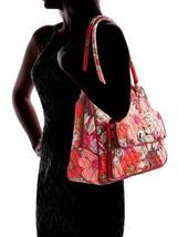 Vera Bradley Signature Cotton Turnlock Satchel Bag, Bohemian Blooms image 5