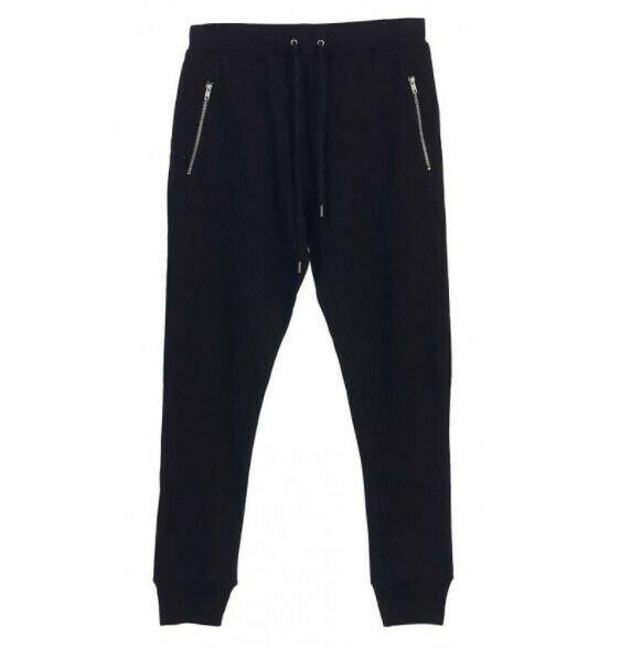 Men's Casual Jogger Pants Slim Fit Zipper Pockets Sport Workout Sweatpants - XL